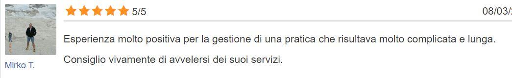 Mirko recensisce l'avv. Gianluca Piemonte