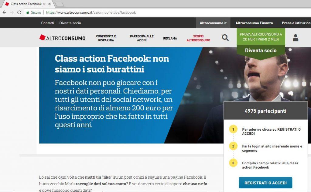Facebook class action, come partecipare gratis