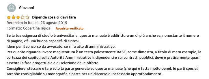Recensione Manuale diritto amministrativo di Caringella